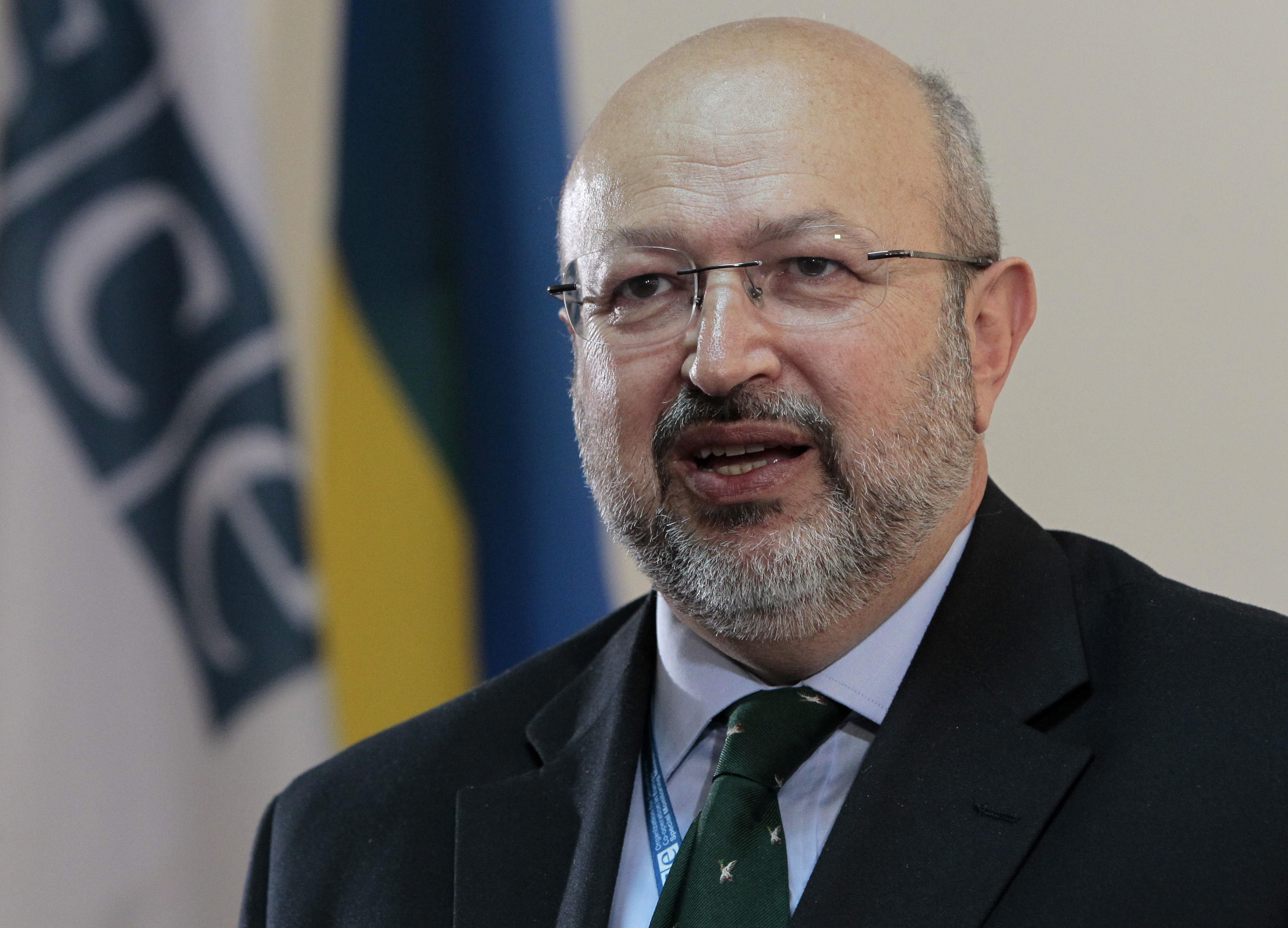"FILE - OSCE Secretary General Lamberto Zannier says the Ukraine cease-fire ""has being holding for more than 10 days,"" which is yielding the opportunity ""to make progress at a political level."""