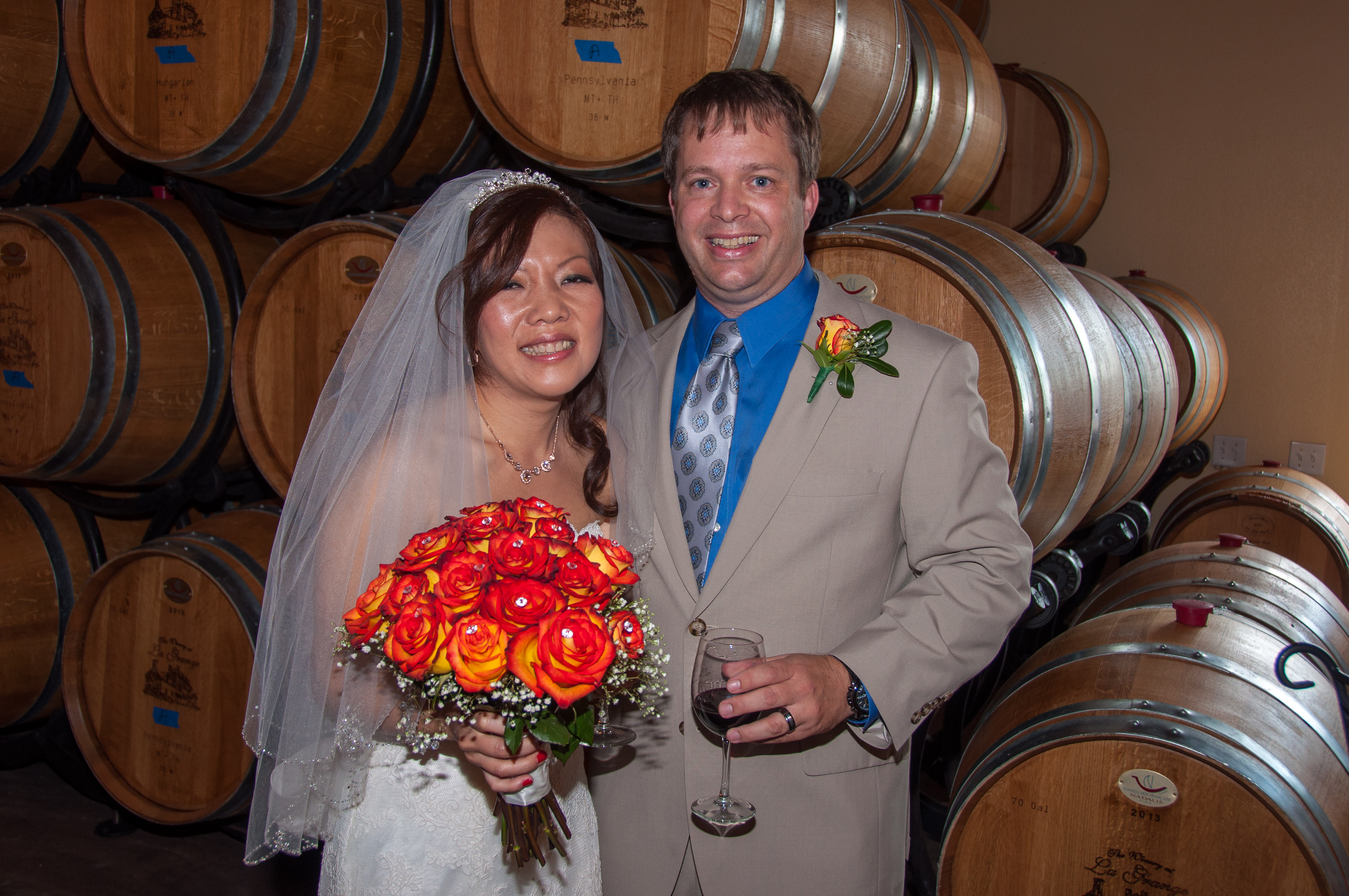 Taipei native Catherine Judson (née Chang) and Virginian Mark Judson after their wedding in Virginia