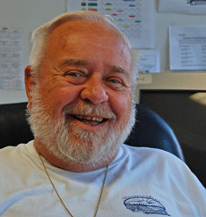 Retired government worker Bob Blair leases his land to the Volunteer Farm for $1 a year.