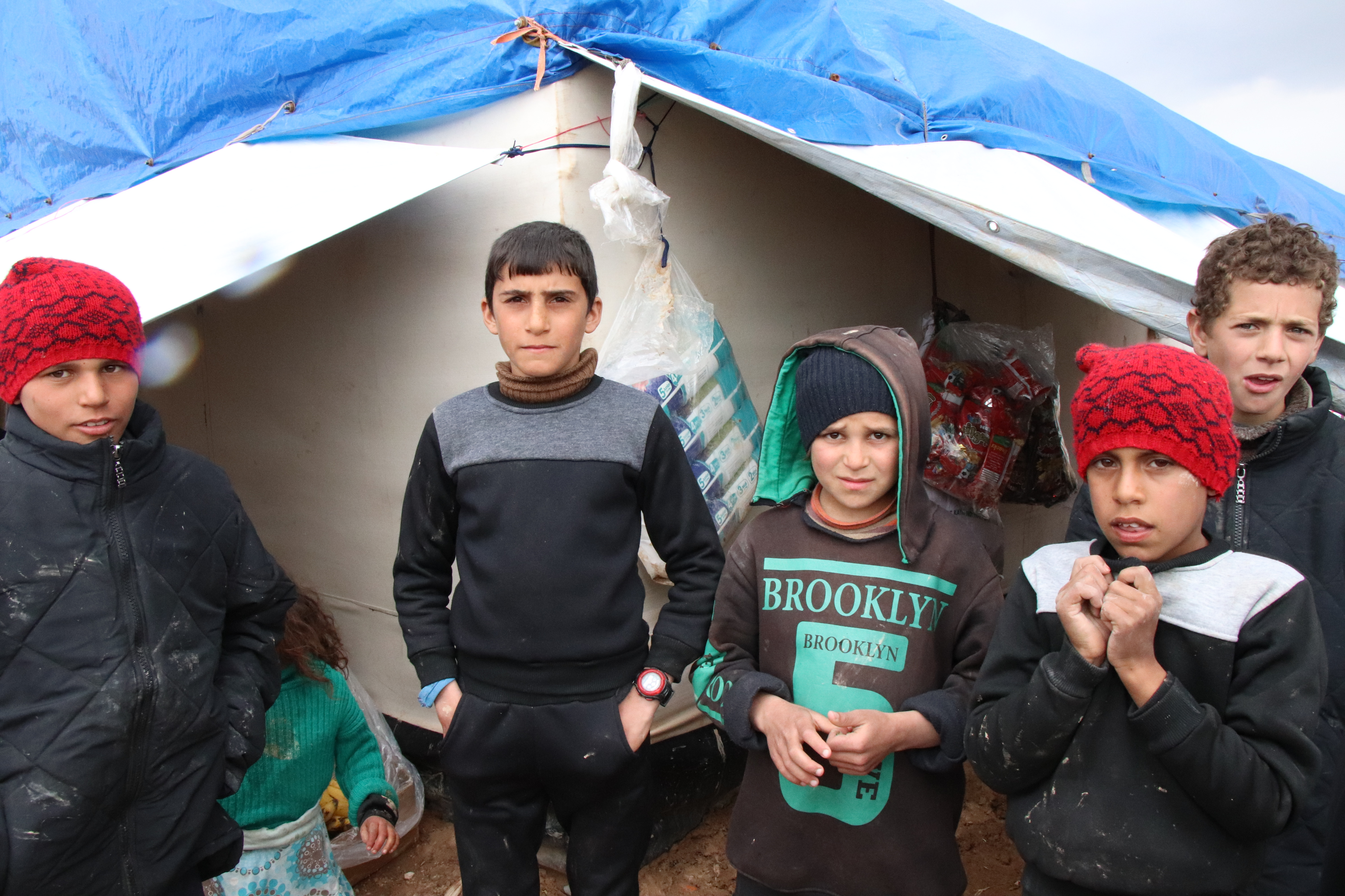 Children, pictured in al-Hol Camp, Syria, on March 4, 2019, say they felt safer living in a war zone than they do in the camp, because they were told that IS militants were protecting them.