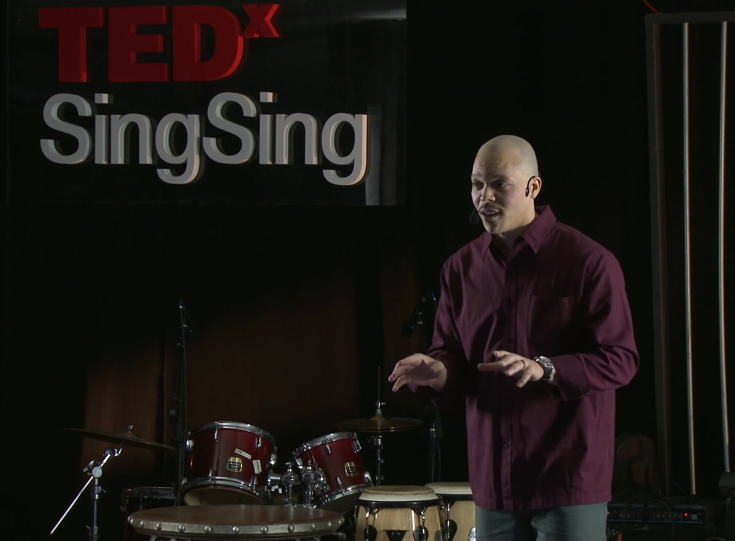 "Kenyatta's TEDx talk from Sing Sing, in December 2014, was called ""Connecting Through Art."""
