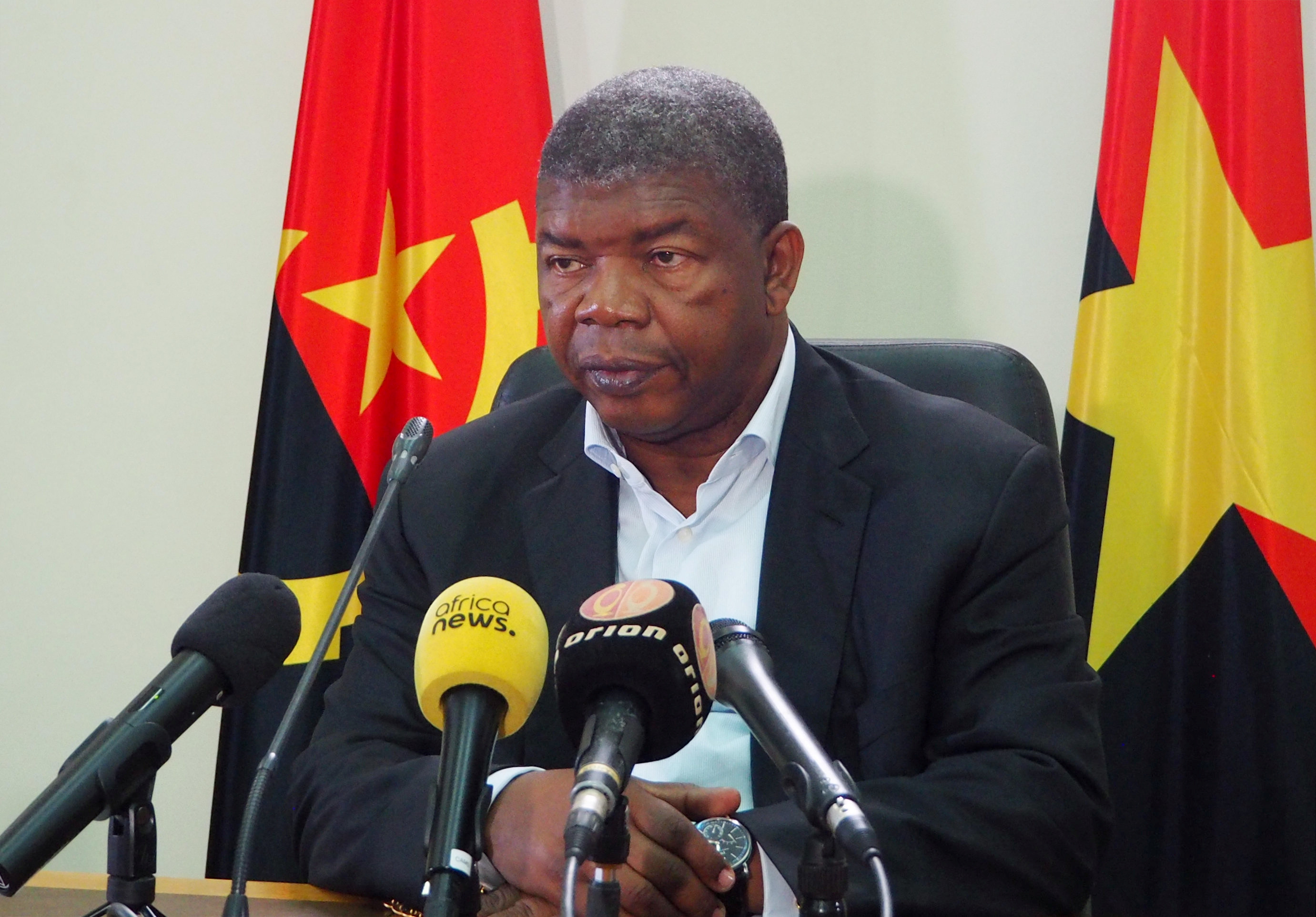Joao Lourenco, presidential candidate for the ruling MPLA party, speaks at a news conference in Luanda, Angola, Aug. 22, 2017.