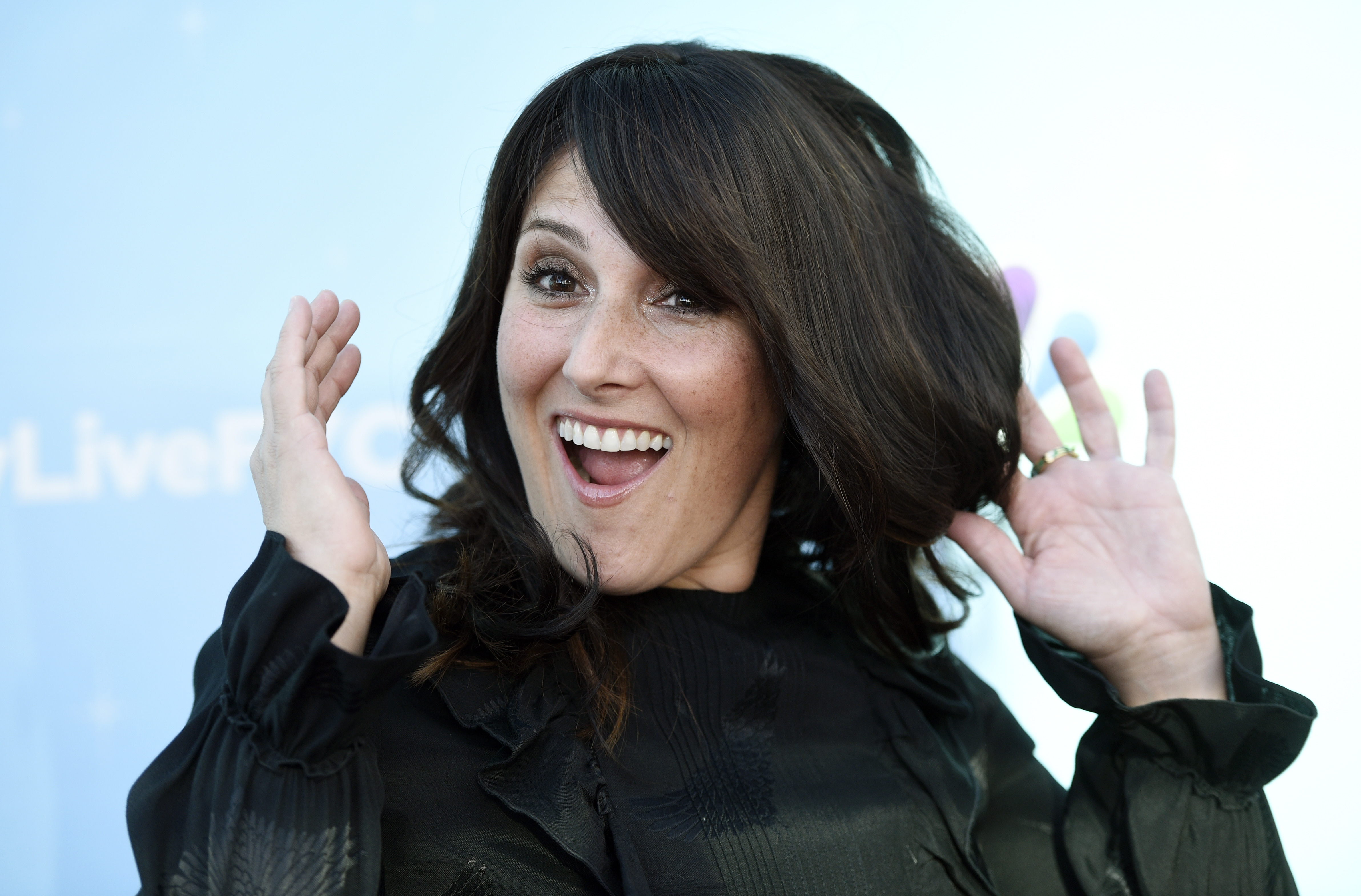 """FILE - Event moderator Ricki Lake poses at an Emmy For Your Consideration event for the NBC show """"Hairspray Live!"""" at the Television Academy in Los Angeles, June 9, 2017."""