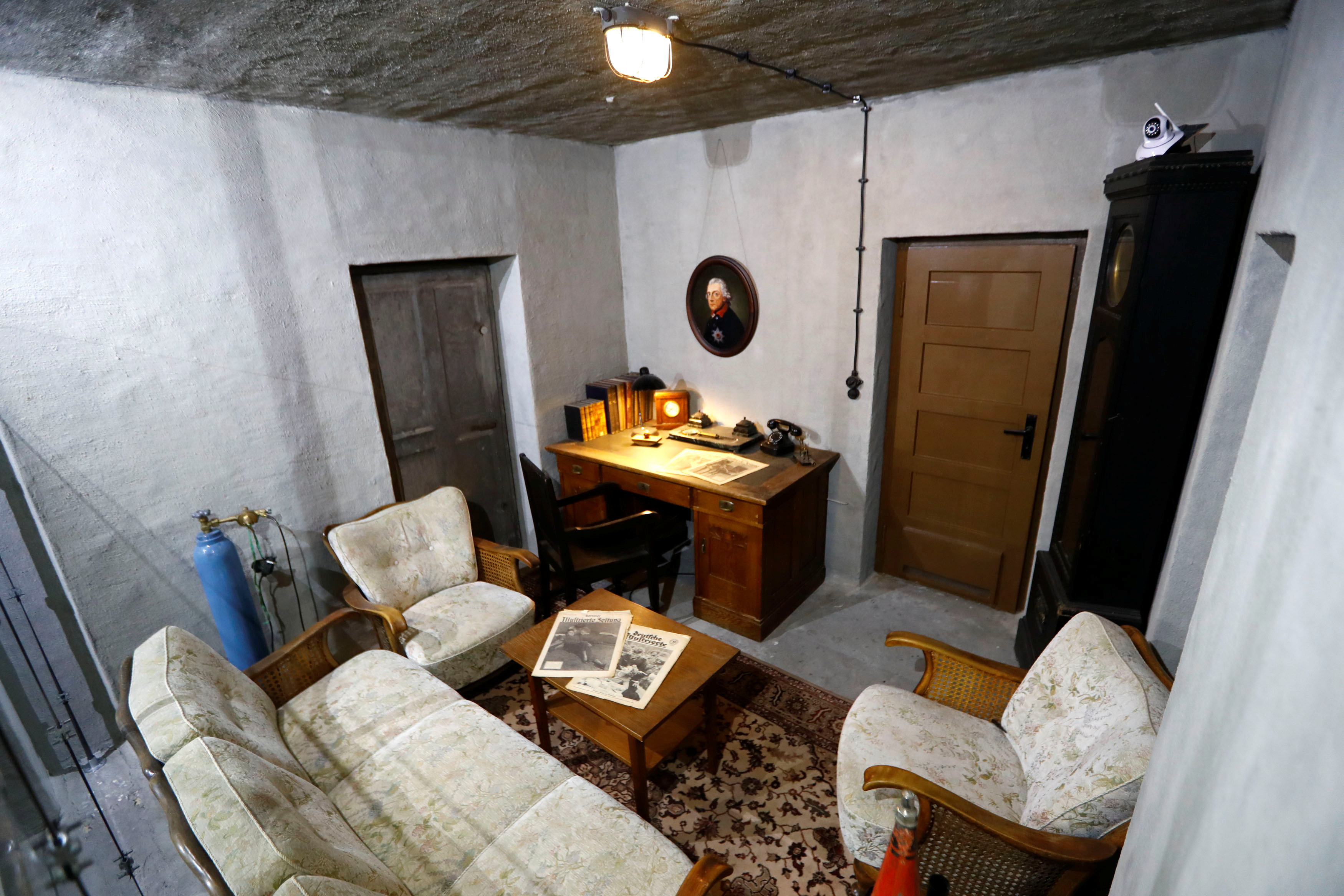 "A replica of the original bunker office of German Nazi leader Adolf Hitler is part of ""Hitler — How Could it Happen?"" in Berlin, Germany, July 27, 2017."