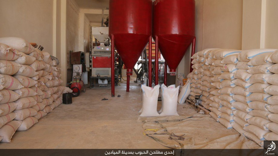 FILE - Islamic State runs this flour mill in a village near Deir Ezzor in eastern Syria, Oct. 18, 2016. (Credit: Dawa al-Haq)