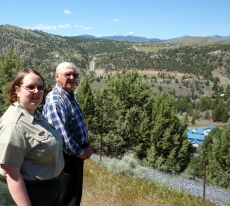 Christina Sweet and Dennis Smith overlook a likely location for the vanished Canyon City Chinese Cemetery in Grant County, Oregon.