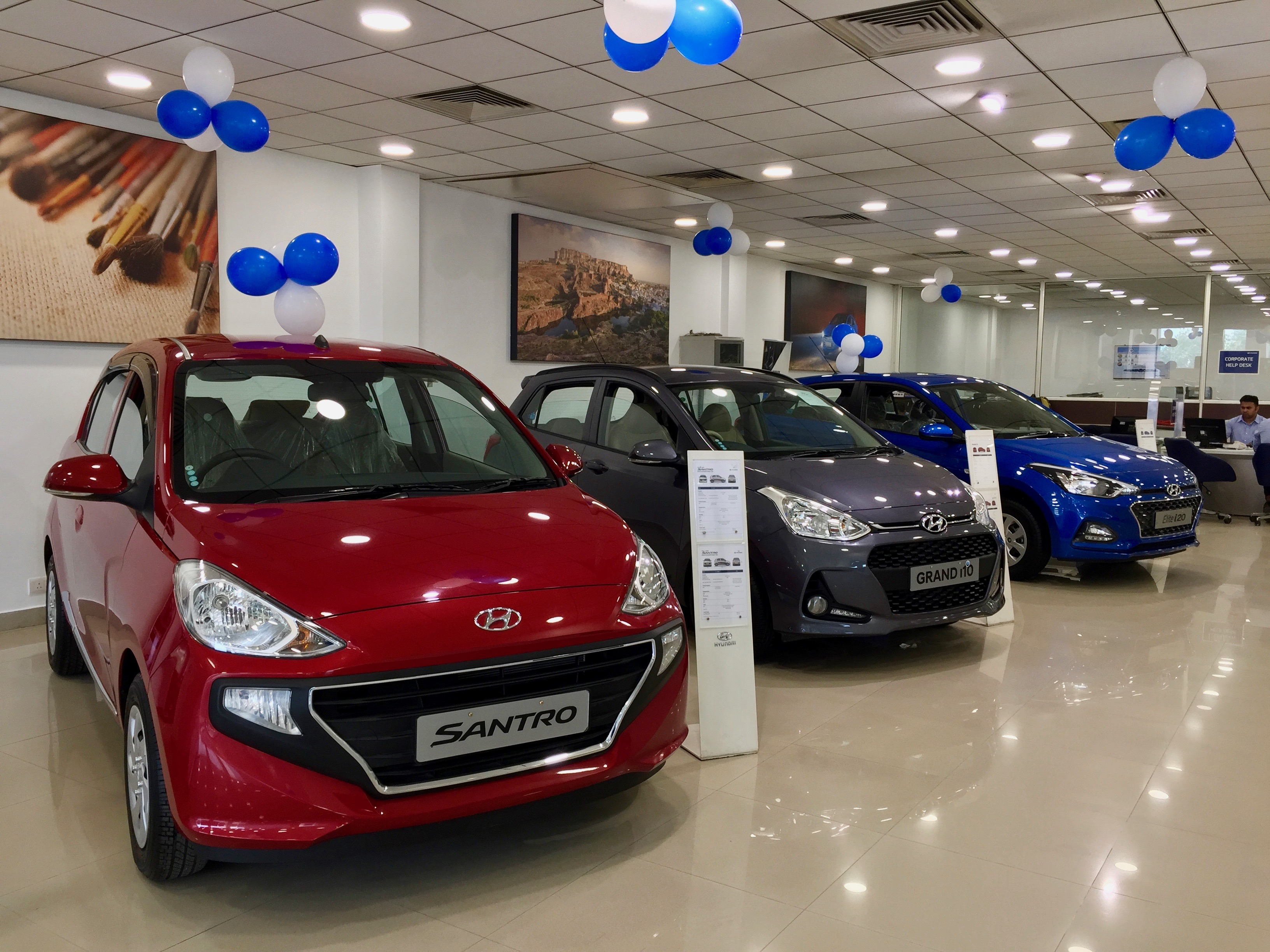 Like other carmakers, the Hyundai showroom in Gurgaon has witnessed a decline in sales of cars in recent months.