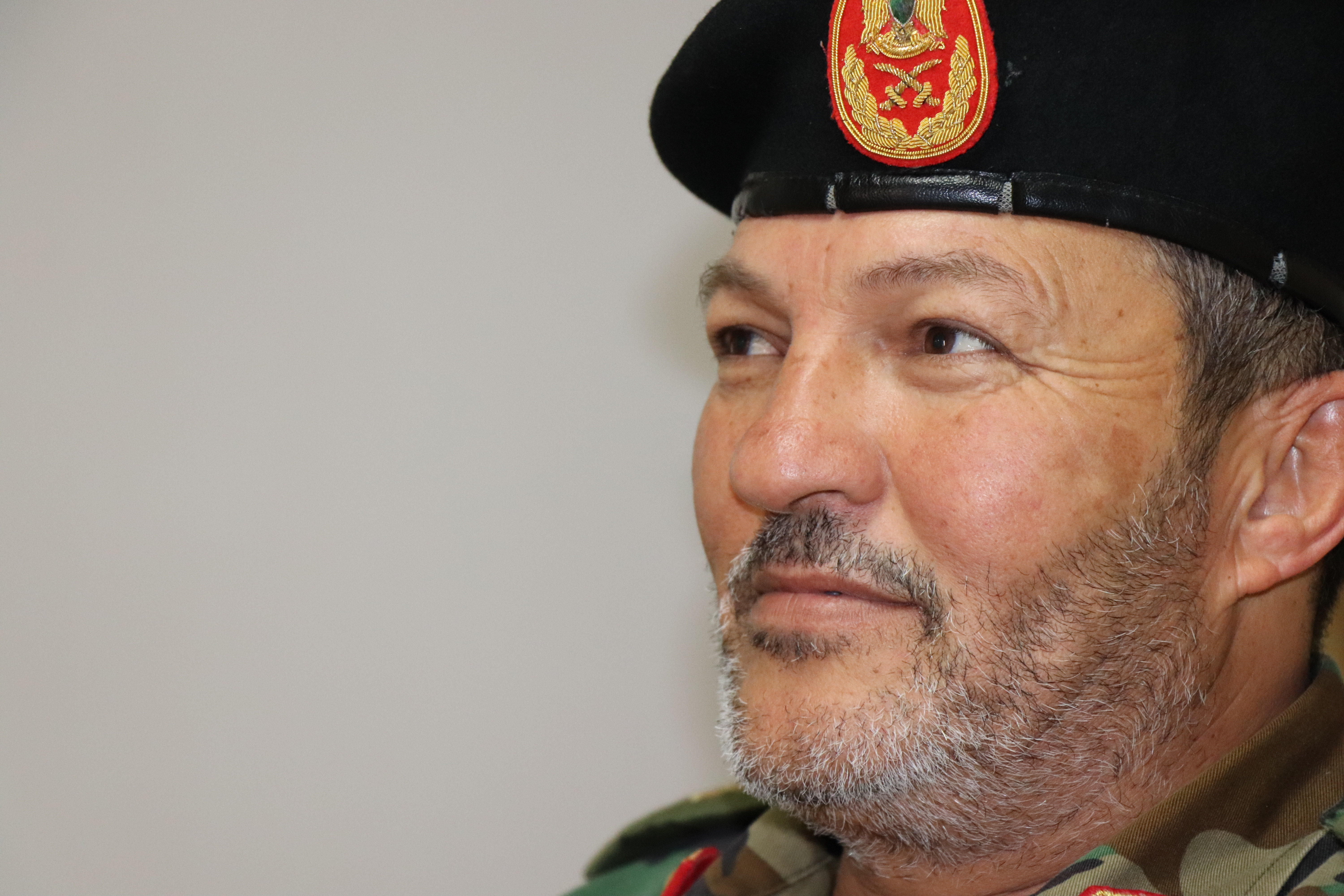 Abdul Basset Marwan, commander of the Tripoli Military Area, says he had high hopes for peace talks before the assault on Tripoli began in early last month. He spoke April 29, 2019, in Tripoli, Libya
