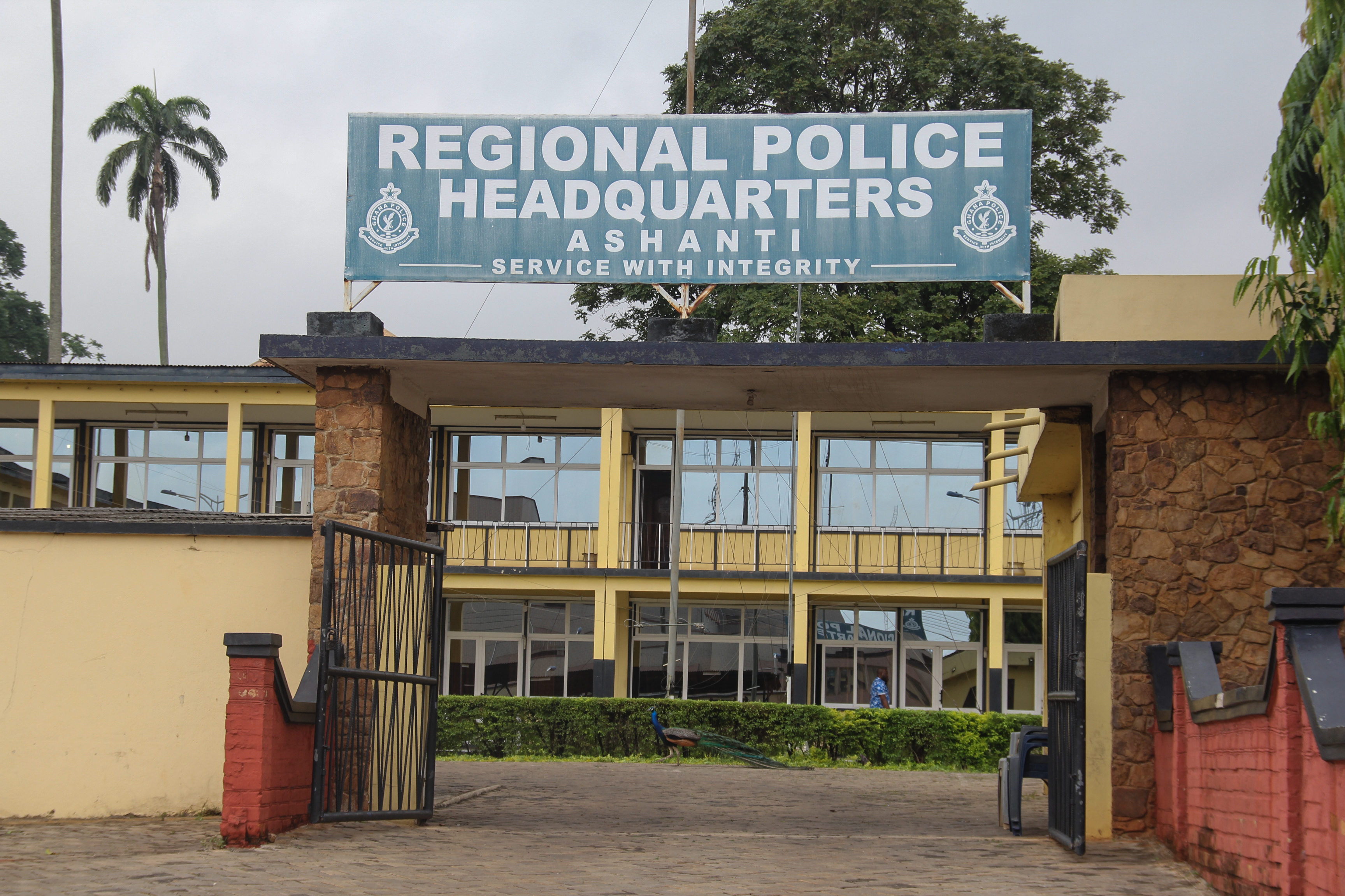"""The Ashanti Regional Police Headquarters in Kumasi is pictured on June 7, 2019. - The Canadians, charity volunteers aged 19 and 20, were taken on the evening of June 4, in Kumasi, Ghana's second city, some 200 kilometres (125 miles) northwest of the capital Accra, David Eklu, the assistant commissioner of police said in a statement. """"Police Command is investigating a complaint of kidnapping at Ahodwo, Kumasi Royal Golf Club, at 8:25 pm on 4 June, 2019, where two women of Canadian nationality were kidnapped,"""