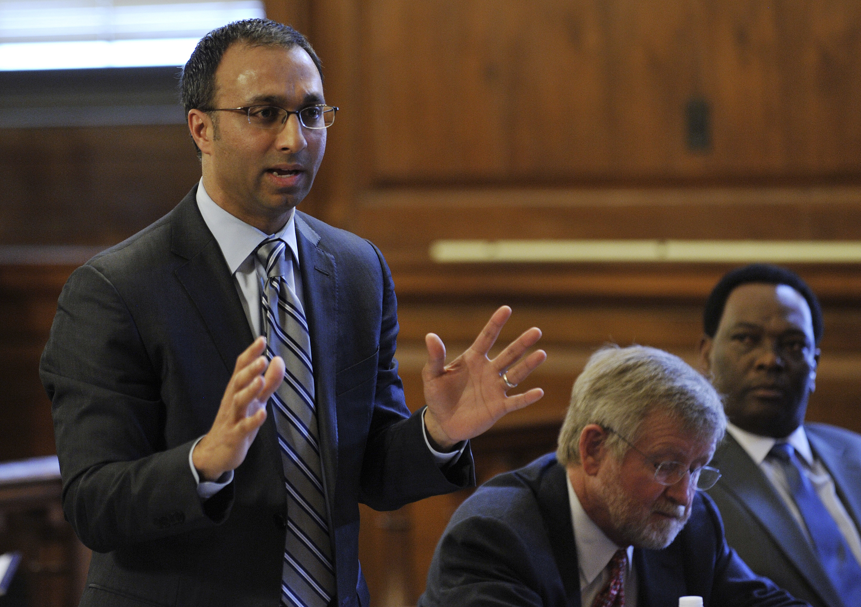 FILE - Lawyer Amit Mehta speaks during the civil case at Bronx State Supreme Court in New York, March 28, 2012.