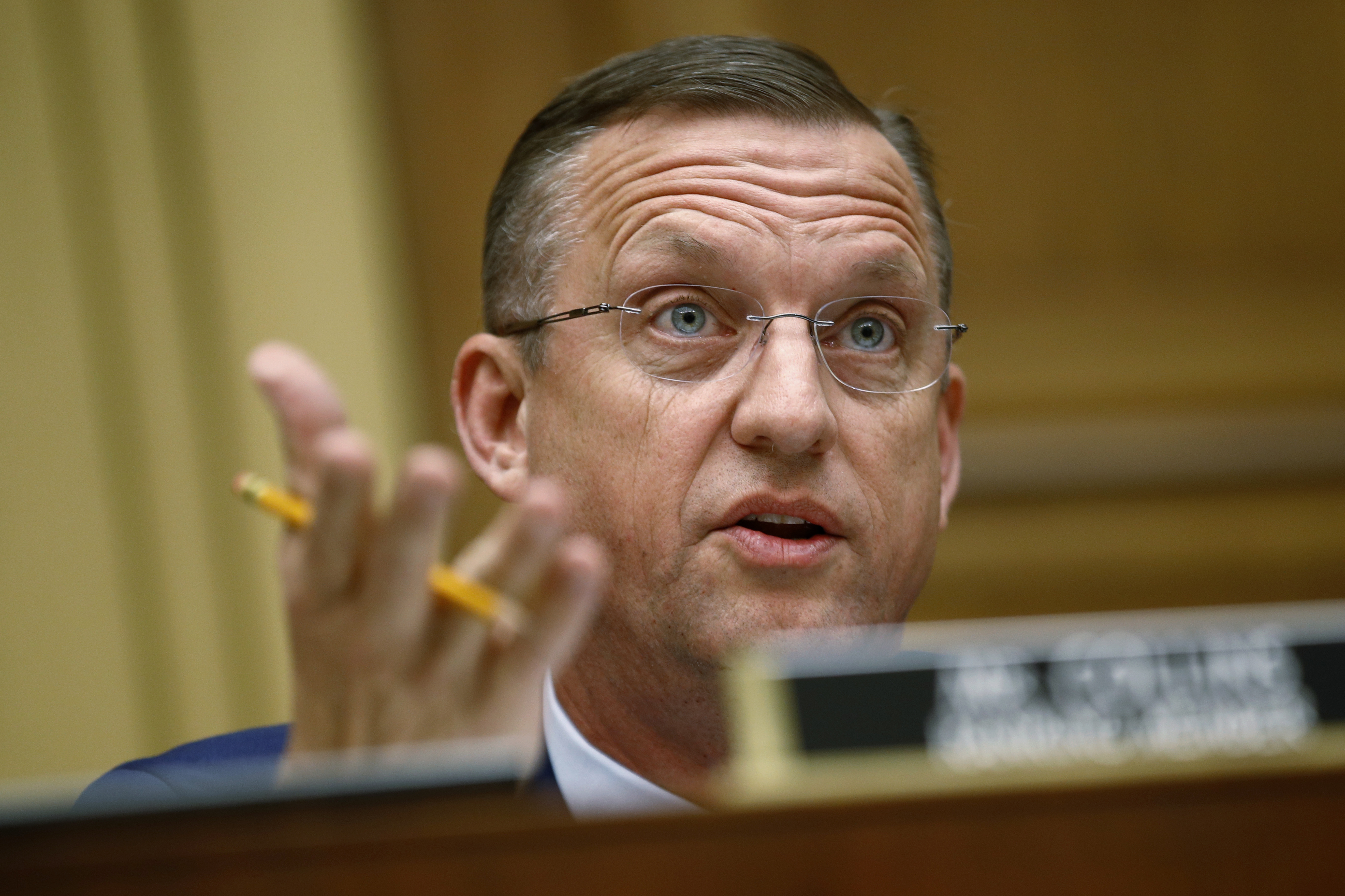 Rep. Doug Collins, R-Ga., ranking member of the House Judiciary Committee, speaks during a hearing without former White House Counsel Don McGahn, who was a key figure in special counsel Robert Mueller's investigation, on Capitol Hill, May 21, 2019.