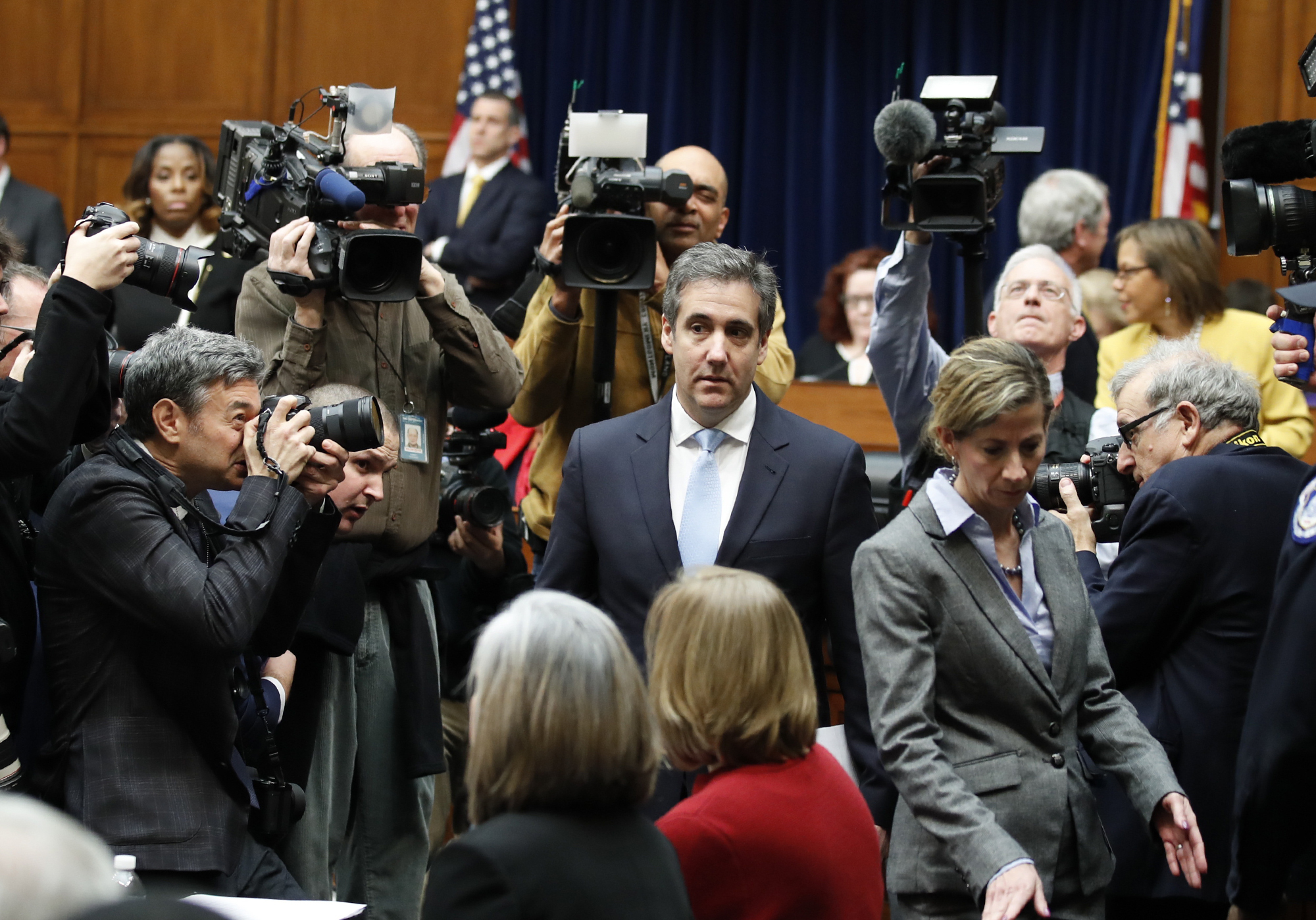 Michael Cohen, President Donald Trump's former personal lawyer, arrives to testify before the House Oversight and Reform Committee on Capitol Hill, Feb. 27, 2019, in Washington.