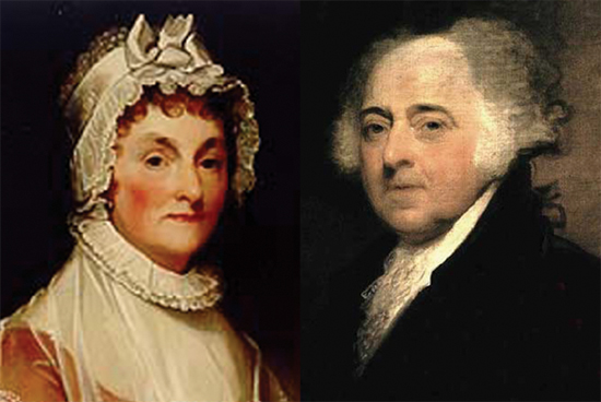 Founding father John Adams, second president of the United States, married to his third cousin, Abigail, and they had six children.