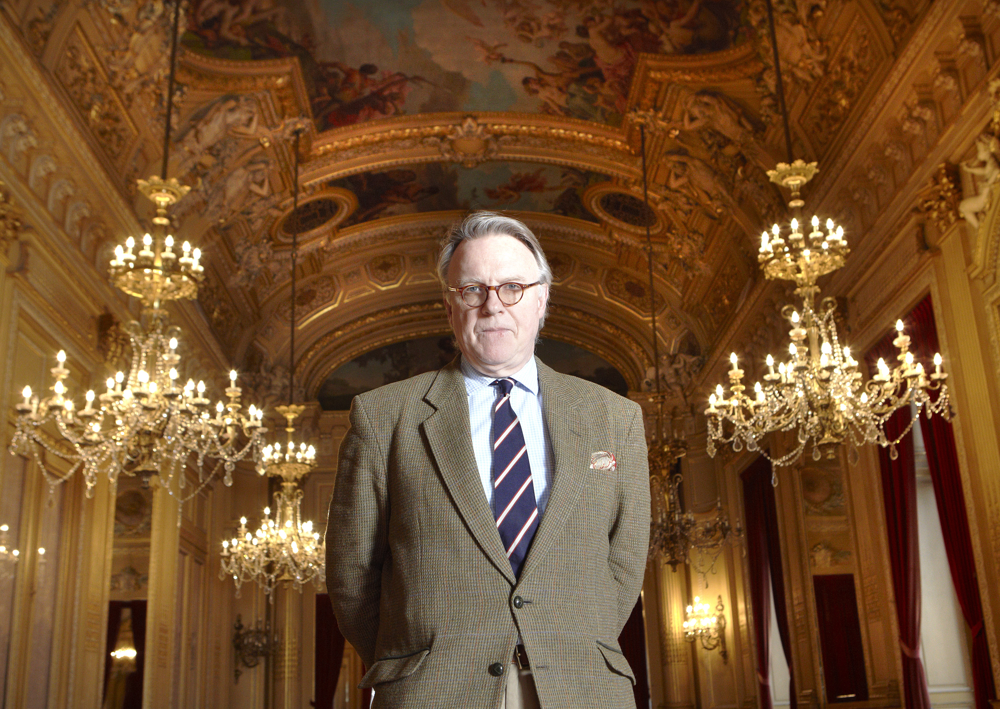 Tobias Richter, Director, poses in the foyer of the Grand Theater in Geneva, Dec. 9, 2011.