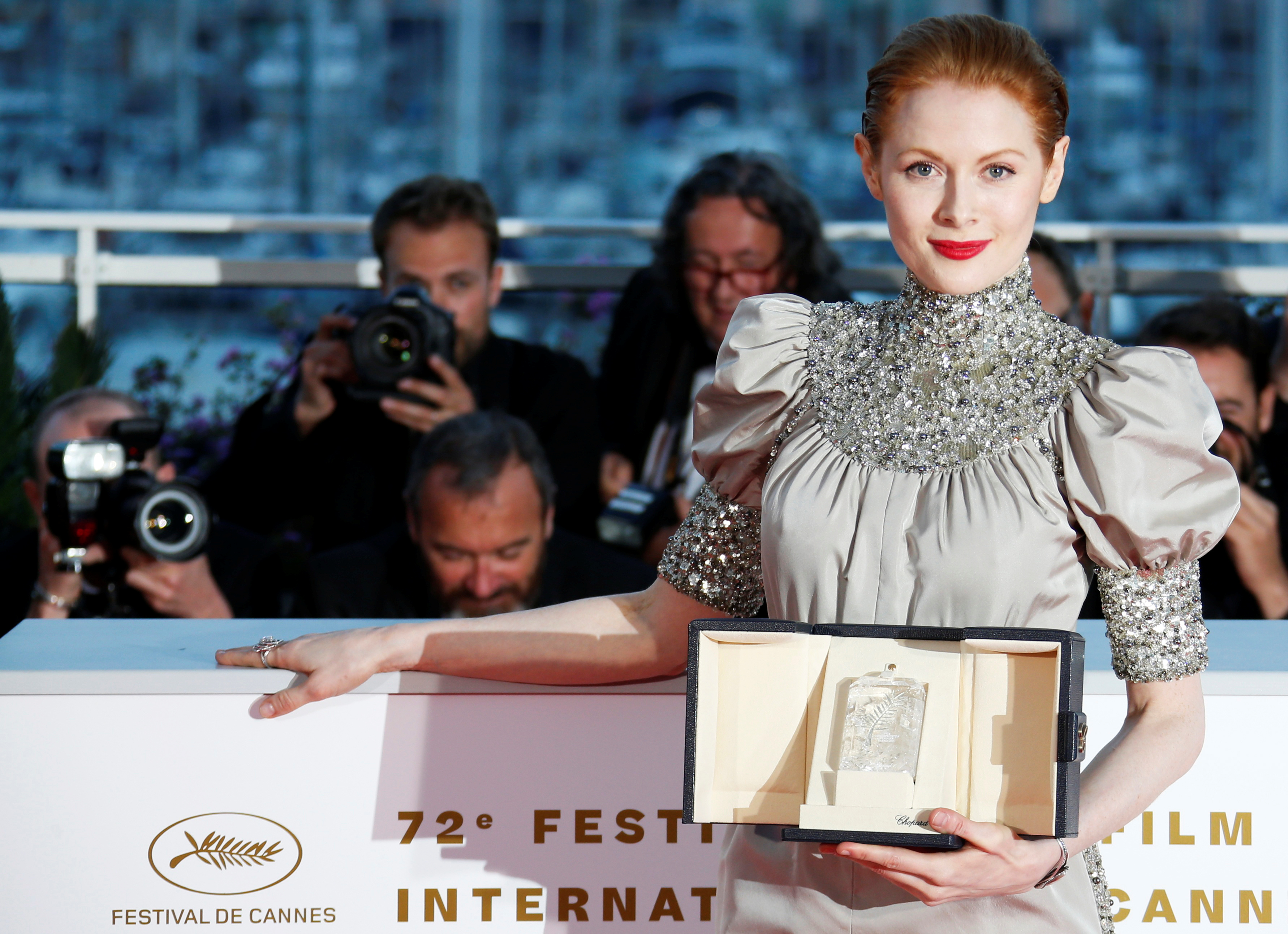 "Emily Beecham was named best actress at the Cannes Film Festival for her performance in ""Little Joe,""  Cannes, France, May 25, 2019."