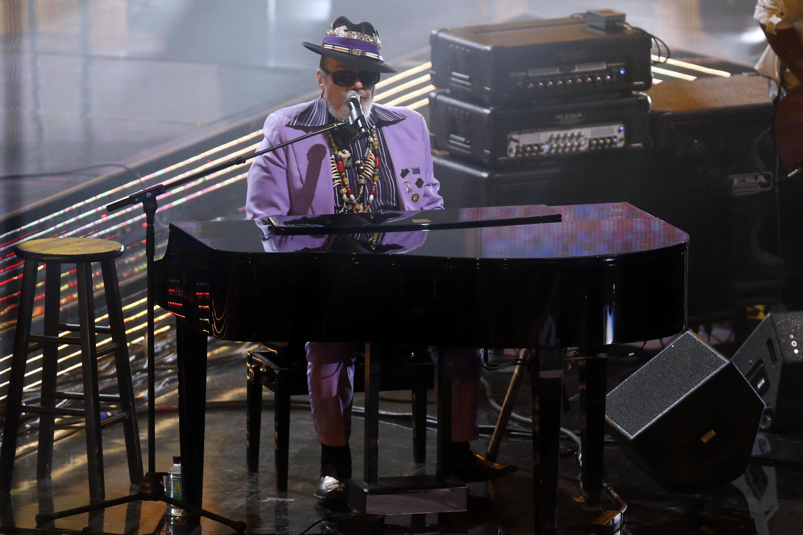 On Feb 16, 2014, in New Orleans, Dr. John performs during halftime of the 2014 NBA All-Star Game.