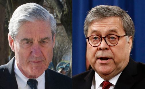 """Special counsel Robert Mueller, left, complained in a letter to Attorney General William Barr that his four-page summary of Mueller's Russia report """"did not fully capture the context, nature and substance"""" of the investigation's conclusions, The Wash..."""