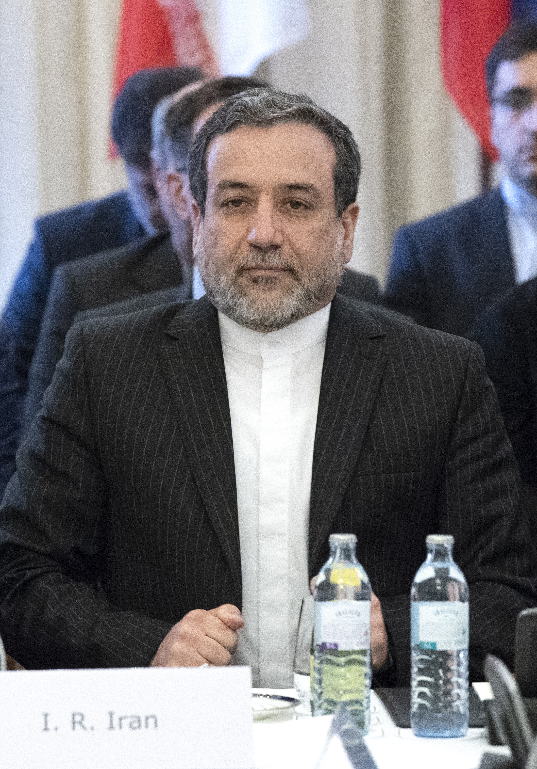 Political deputy at the Ministry of Foreign Affairs of Iran Abbas Araghchi attends a special meeting of the Joint Commission of parties to the JCPOA (Joint Comprehensive Plan of Action) on Iran's nuclear deal at Coburg palace in Vienna, May 25, 2018....