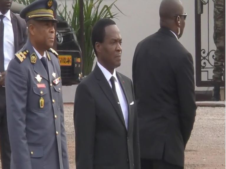 Cameroon Defense Minister Joseph Beti Assomo on mourning day. June 21, 2019, in Yaounde.
