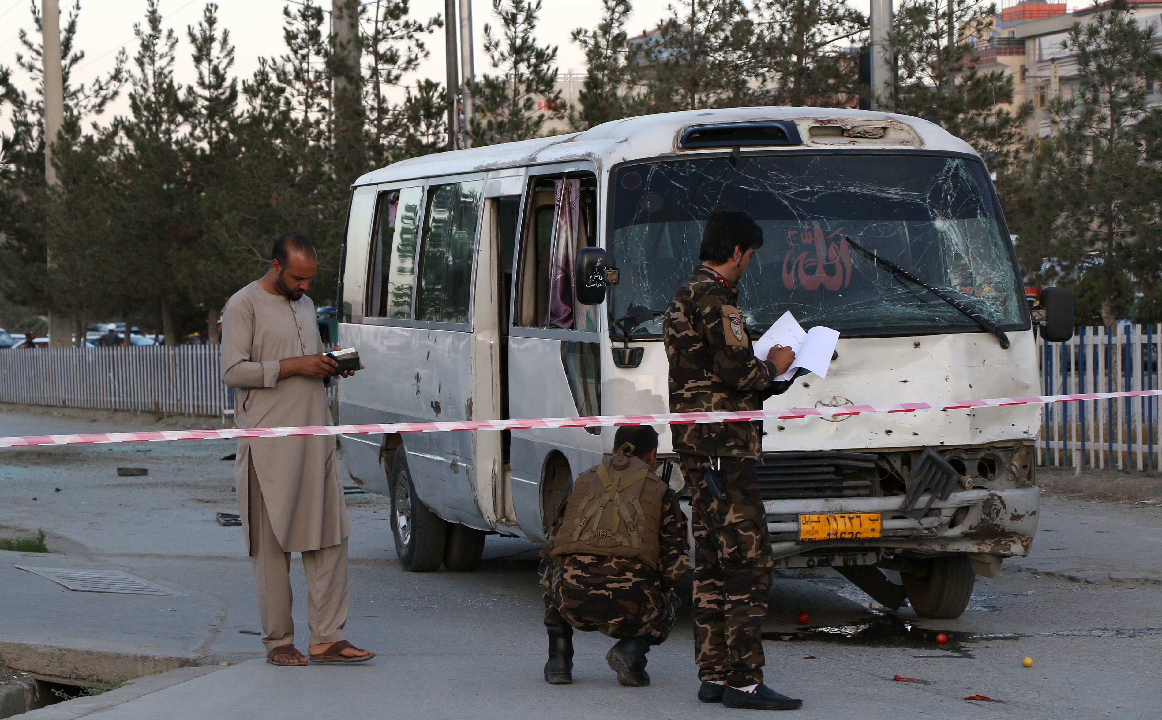 Bus Carrying Afghan Journalists Attacked In Kabul Voice