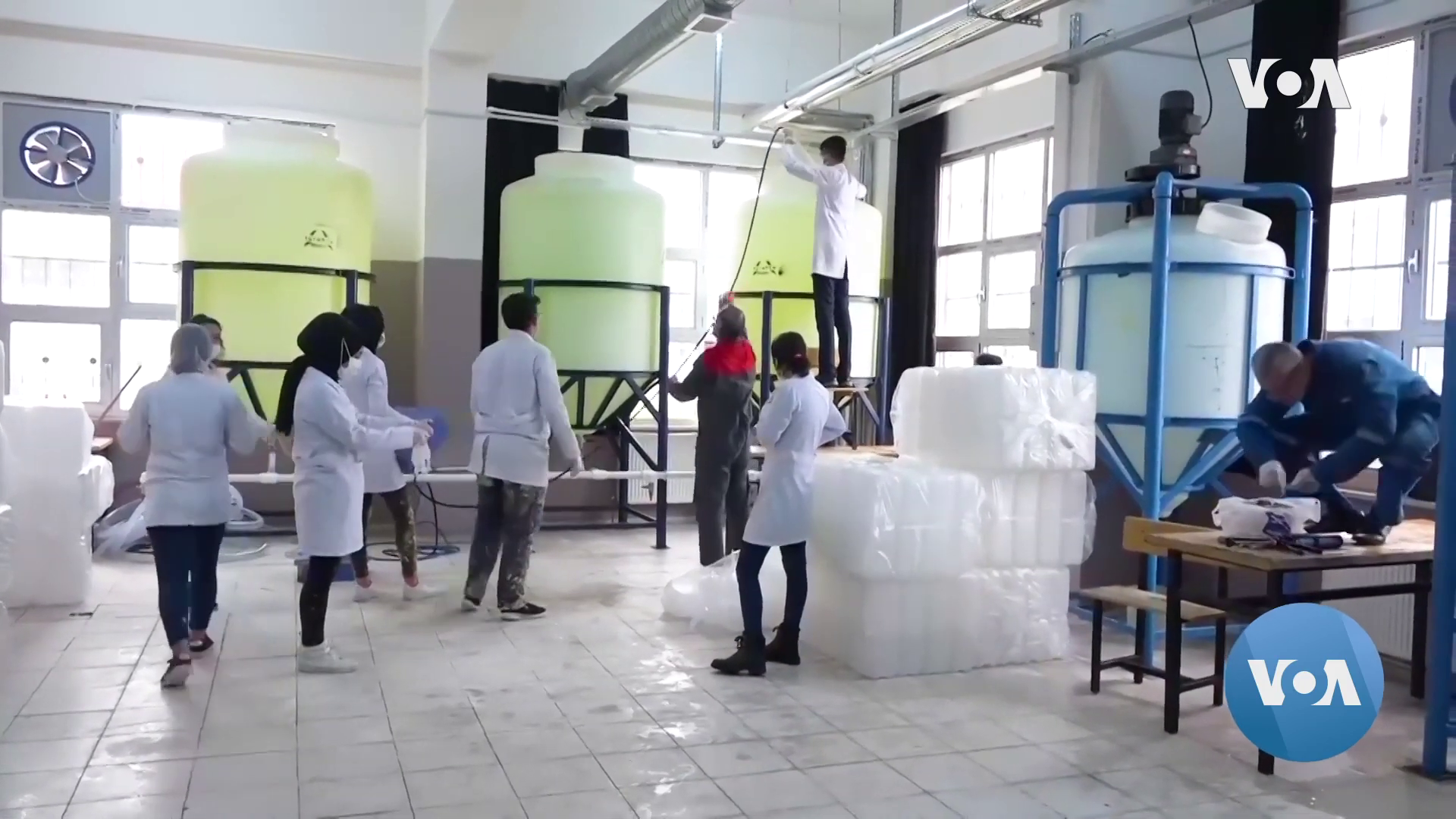 Turkish Vocational Students Step-up to Help Amid Disinfectants and Masks
