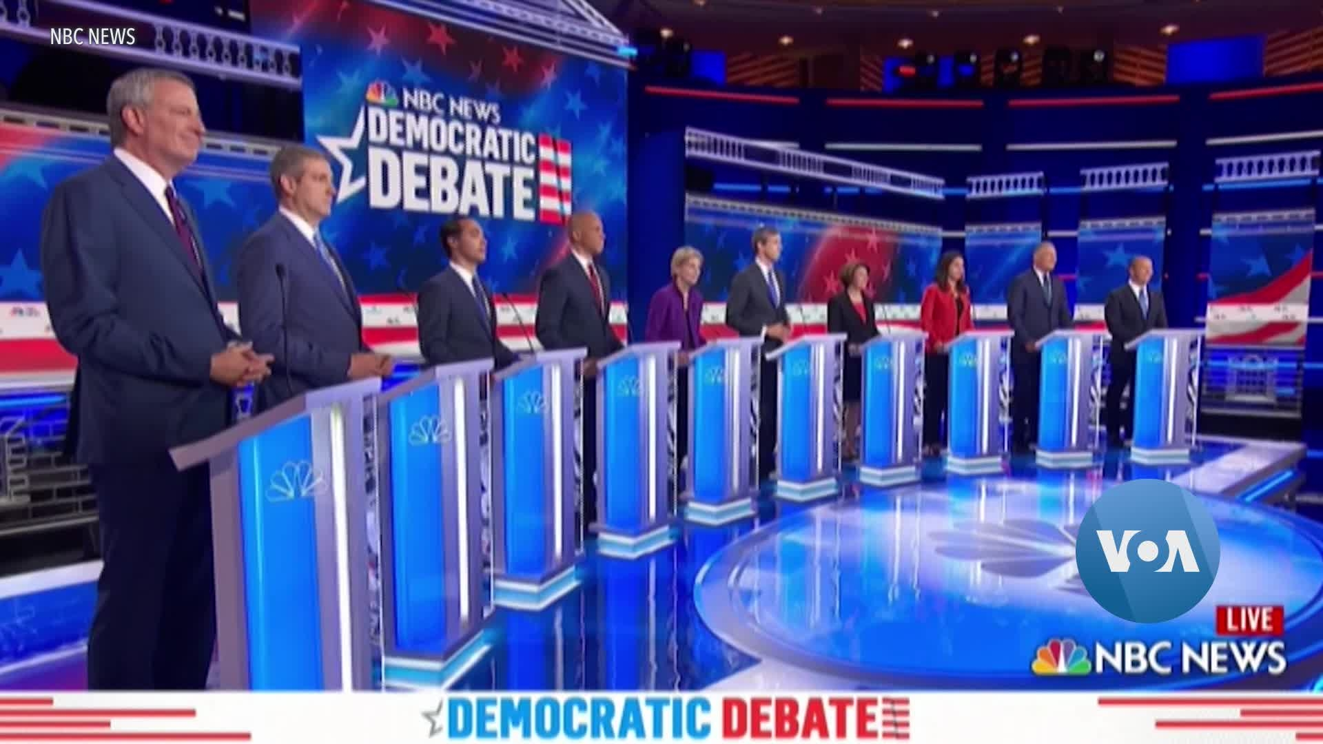 Democrats Target Trump and Each Other in First Debate