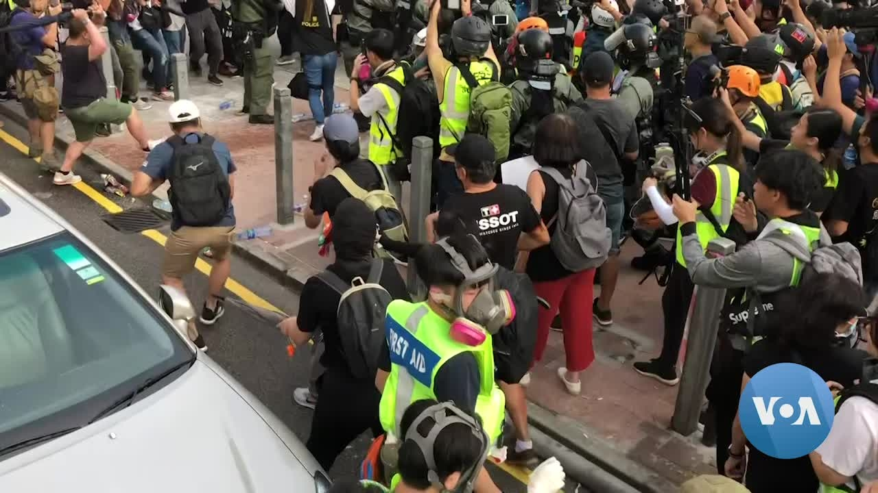 Protesters Again Take to Streets of Hong Kong