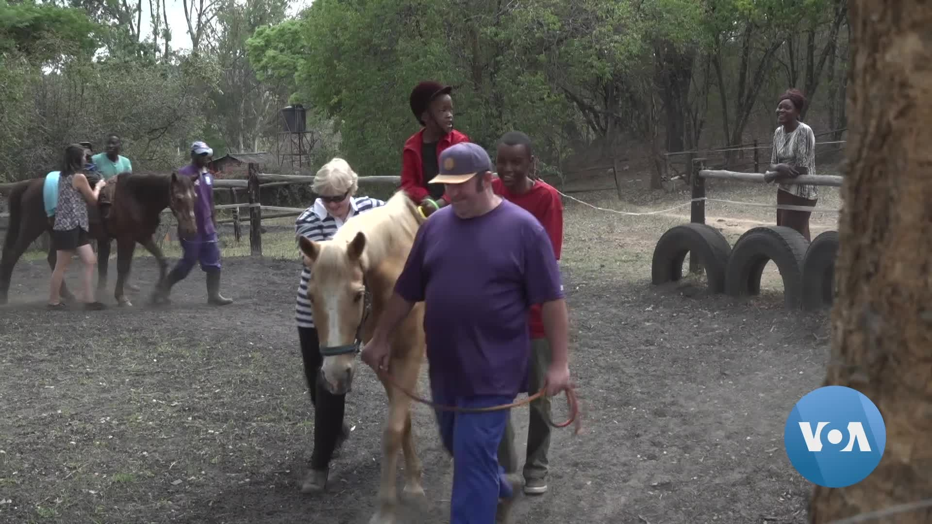 Horses Aid in Therapy for Some With Disabilities in Zimbabwe