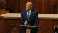 FILE - Democratic Congressman John Lewis speaks as the House of Representatives debates the articles of impeachment against President Donald Trump, at the Capitol, in Washington, Dec. 18, 2019.