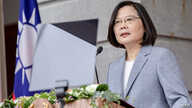 This handout picture taken and released on May 20, 2020 by the Taiwan Presidential office shows Taiwan's President Tsai Ing-wen…