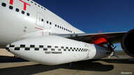 Richard Branson's Virgin Orbit, with a rocket underneath the wing of a modified Boeing 747 jetliner, prior to its takeoff on a…
