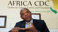FILE PHOTO: John Nkengasong, Africa's Director of the Centers for Disease Control (CDC), speaks during an interview with…