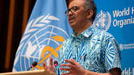 Tedros Adhanom Ghebreyesus, Director General of the World Health Organization (WHO) attends the virtual 73rd World Health…
