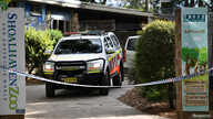 An ambulance is seen leaving the Shoalhaven Zoo, where a worker was wounded in a lion attack, in Nowra, Australia, May, 29, 2020.