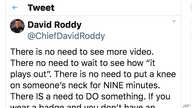 This tweet posted by Chief David Roddy of the Chattanooga, Tenn., Police Department is seen May 28, 2020.