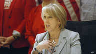 FILE - New Mexico Gov. Michelle Lujan Grisham.