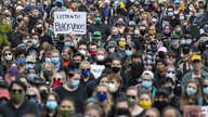 Demonstrators gather at a rally to peacefully protest and demand an end to institutional racism and police brutality, Wednesday…