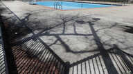 The swimming pool at Chicago's Altgeld Park remains empty as shelter at home and social distancing orders remain in affect…