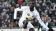 FILE - In this Thursday, Nov. 28, 2019 file photo, Tokmac Nguen of Ferencvaros in action during the soccer Europa League Group…