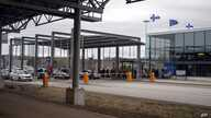 FILE - This March 17, 2020 file photo, shows incoming traffic to Finland at the Nuijamaa border station in between Finland and…