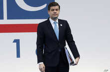 FILE - United States' Wess Mitchell, assistant secretary of State for European and Eurasian Affairs, arrives for the 25th Organization for Security and Cooperation in Europe, OSCE, ministerial council meeting, in Milan, Italy, Dec. 6, 2018.