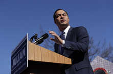 Former San Antonio Mayor and Housing and Urban Development Secretary Julian Castro announced his decision to seek the 2020 Democratic presidential nomination, Jan. 12, 2019, in San Antonio.