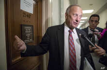 FILE - Rep. Steve King, R-Iowa, talks with a reporter on Capitol Hill in Washington, June 27, 2018.