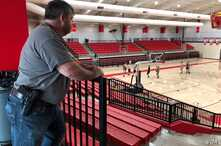 Coach Dale Cresswell is one of a handful of teachers across the state of Arkansas who have begun arming themselves, in Heber Springs, Ark., Dec. 11, 2018 (T.Krug/VOA News)