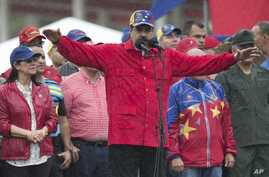 FILE - Venezuela's President Nicolas Maduro speaks during an anti-imperialist rally in Caracas, Venezuela, March 9, 2017. Maduro said in a televised appearance Friday that he asked the United Nations for help boosting medicine supplies in the shorta...