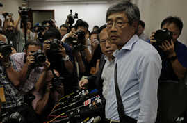 FILE - Freed Hong Kong bookseller Lam Wing-kee is pictured prior to a news conference in Hong Kong, June 16, 2016.