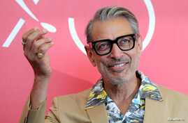 """Actor Jeff Goldblum attends the photo call for the film """"The Mountain"""" at the 75th edition of the Venice Film Festival in Venice, Aug. 30, 2018."""