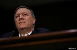 Mike Pompeo testifies before a Senate Intelligence hearing on his nomination of to be become director of the CIA in Washington, Jan. 12, 2017.