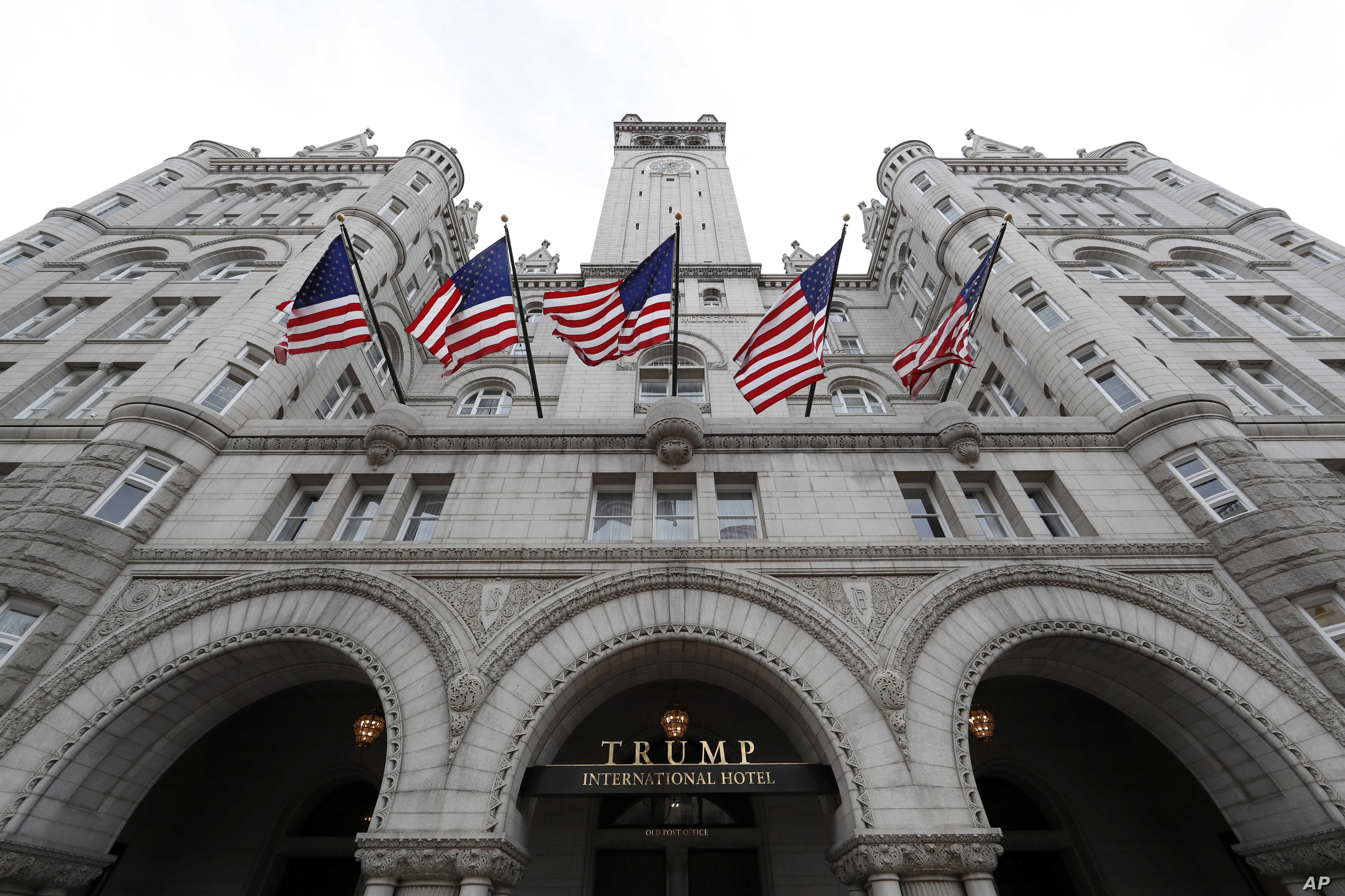FILE - The Trump International Hotel at 1100 Pennsylvania Ave. NW, in Washington, Dec. 21, 2016.