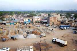 New buildings are under construction in Juba as the city prepares to become a capital, January 12, 2011